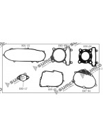 Engine Gasket Set 152QMI GY6 125cc (LN125)