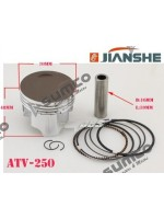 Piston and Rings Kit  JIANSHE 250 5 LONCIN 250 F engine parts 171FMM  JIANSHE LONCIN Quad 250